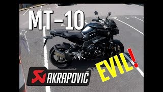 4. Yamaha MT-10 with Akrapovic - 2018 - Review and Hanging on for dear life!