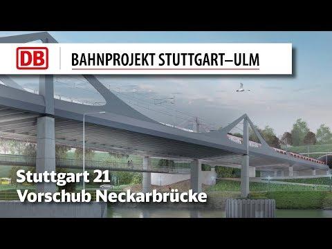 Neckarbrücke: Taktschubarbeiten erfolgreich abgeschlossen