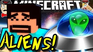 Minecraft ALIEN ABDUCTION&Nuclear Launch!