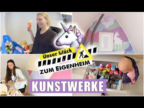 Einhorn Wandbild   Es wird bunt im Baby & Kinderzimmer   Food Haul   Isabeau