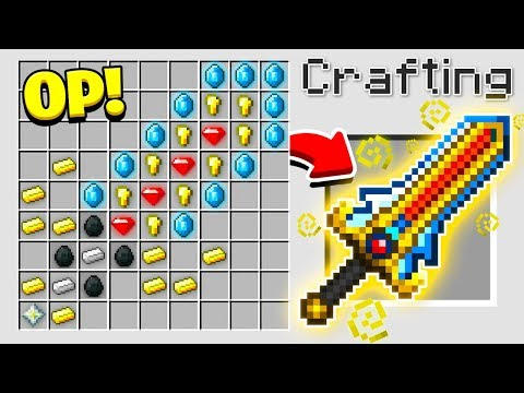 HOW TO CRAFT A $1,000,000 SWORD! *OVERPOWERED* (Minecraft 1.13 Crafting Recipe)