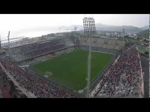 spettacolare video con drone allo stadio arechi in salernitana-barletta