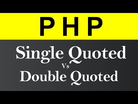 Difference between Single Quote and Double Quote in PHP (Hindi)
