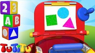 """TuTiTu Pré-escola é uma série para crianças que estão dando os primeiros passos no mundo dos números, das letras, formas e cores na língua inglesa. Cada episódio ensinará ao seu filho um dos elementos básicos do conhecimento por meio de cores alegres e animações 3D divertidas e envolventes!TuTiTu - """"Os brinquedos ganham vida"""" é um programa de televisão animado tridimensional almejando crianças de 2 a 3 anos de idade. Através de formas coloridas o TuTiTu estimulará a imaginação e a criatividade das crianças. Em cada episódio as formas do TuTiTu irão se transformar em um novo e excitante brinquedo.Facebook (em português) - https://www.facebook.com/TuTiTuTVPinterest - http://www.pinterest.com/tutitutvTwitter - https://twitter.com/TuTiTuTV---Production & Animation: Twist Animation Ltd.Production Designers: Tal Gamliel, Yossi DahanTuTiTu'S Theme Song: Lyrics: Sarit Ido Schechter, Music: Sarit Ido Schechter and Tal Gamliel, Musical Arrangement: Uri KarivVocals: Yael Shoshana CohenSound engineering: Gil Landau"""