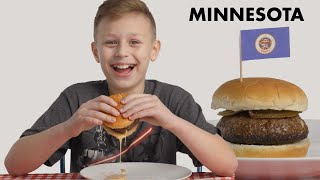 Kids Try Burgers From 10 States  Bon Appétit