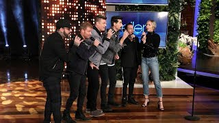 Video Emily Blunt Gets a Backstreet Boys Surprise for an Unexpected Duet MP3, 3GP, MP4, WEBM, AVI, FLV Maret 2019