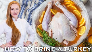 Apple Cider Turkey Brine - How to Brine a Turkey by Tatyana's Everyday Food