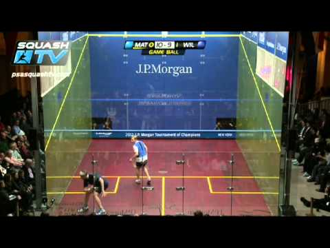 Squash : Nick Matthew v James Wilstrop Final Highlights: JP Morgan ToC Squash 2012