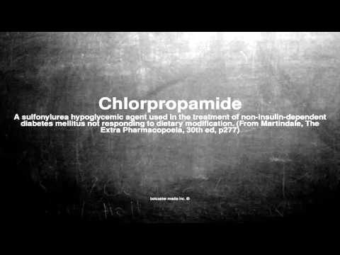 Medical vocabulary: What does Chlorpropamide mean