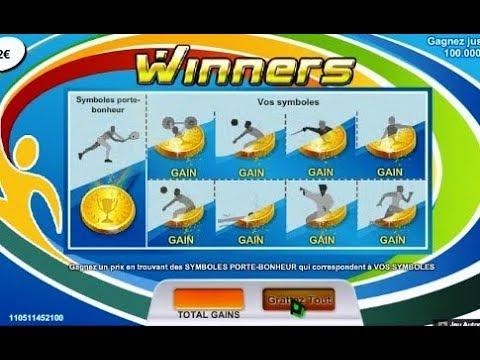 Jeux à gratter WINNERS, un peu ennuyeux comme jeu...