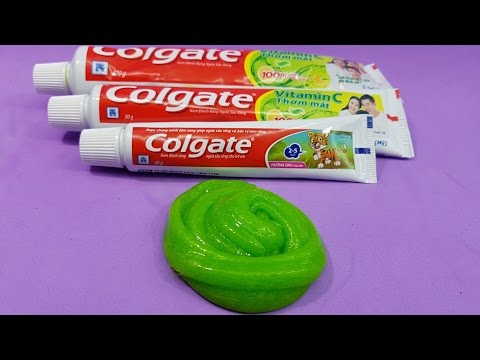 How to make slime colgate toothpaste and glue without borax colgate toothpaste 1 ingredient slime only toothpaste easy slime recipe no glue ccuart Image collections