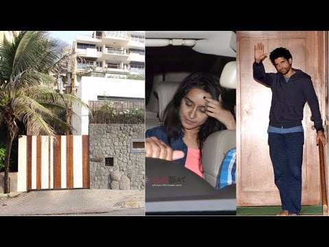 Shraddha Kapoor Spotted At Farhan Akhtar House