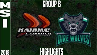 Video KBM vs DW Highlights | MSI 2018 Play in Day 2 Mid Season Invitational KaBuM! e-Sports vs Dire Wolves MP3, 3GP, MP4, WEBM, AVI, FLV Agustus 2018