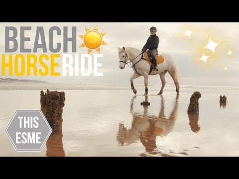 HORSE Riding on the BEACH | Cinematic Vlog | This Esme