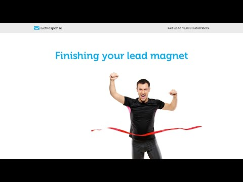 GetResponse List Building Program: Finishing your lead magnet [Lesson 4]