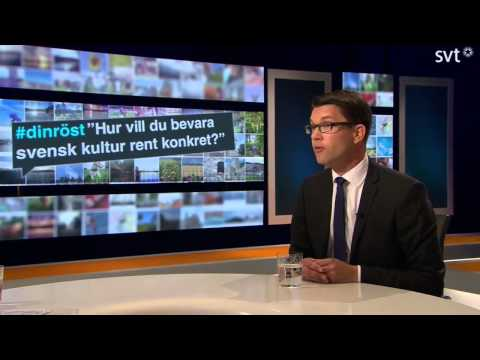 sd - Jimmie Åkesson (SD) gästar SVT:s partiledarutfrågning 2014.