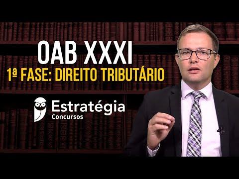 OAB XXXI - 1ª Fase: Direito Tributário