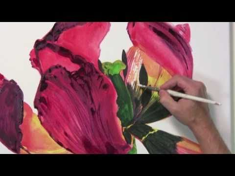 Blütenzauber – Leuchtende Blumenporträts in Acryl malen
