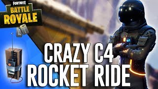 Crazy C4 Rocket Ride!! - Fortnite Battle Royale Highlights - Ninja