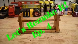 In this series I go back and remake projects I made in my school shop classes or other projects from my past. In this episode I remake a toilet paper holder from my middle school shop class.