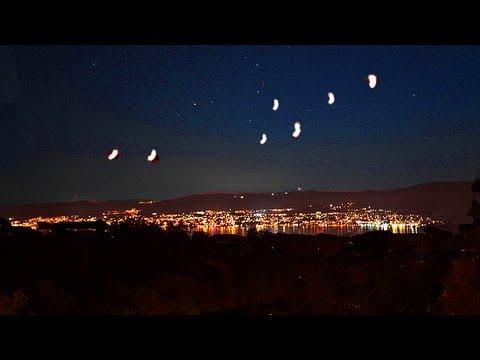 UFO Fleet Over US Military Base in UK Caught on Tape. Illuminati Alien Ship Conspiracy