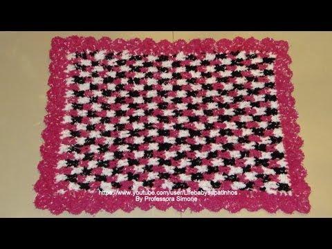 Passo a passo tapete  Crochê Soft 3 cores