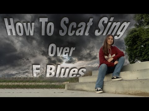 How To Scat Sing Over F Blues (видео)