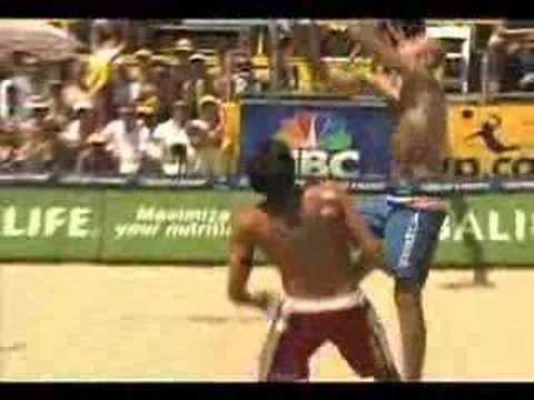 AVP Volleyball Mike Lambert sixpack of Phil Dalhausser
