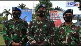 Dukung Terwujudkan Pilkada Sehat 2020 Kepri, Pangkalan TNI AU RHF Bagikan 600 Masker