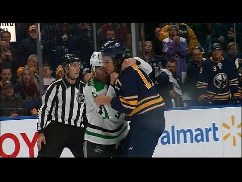 Video: Sabres' Nolan and Stars' Heatherington drop the gloves