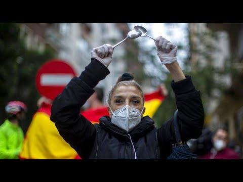 Οργή στη Μαδρίτη για τη διατήρηση του lockdown