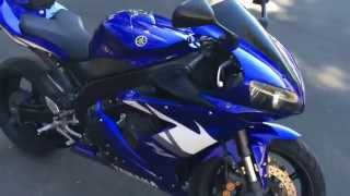 10. 2005 Yamaha R1 with Full Titanium GYTR Exhaust