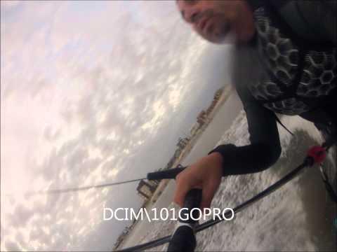 Primeiras fotos velejando com kite cabrinha em 2013 - kitesurf - Balneário Rincão - SC