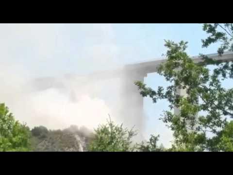 Viadotto Italia, iniziati lavori demolizione