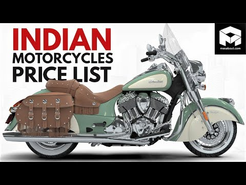 Indian Motorcycles Price List [2018] [17 Bikes]