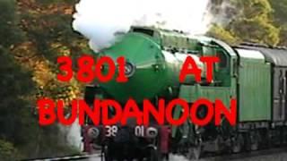 Bundanoon Australia  City pictures : 3801 STEAM TRAIN AT BUNDANOON AUSTRALIA NSW