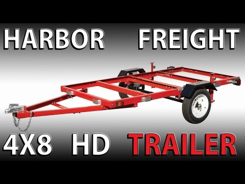 Assembling a HARBOR FREIGHT 4x8 heavy duty Folding trailer
