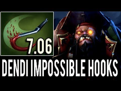 IMPOSSIBLE Hooks 6K TEAM - Dendi [Pudge] Dota 2
