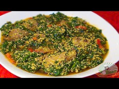 Nigerian Egusi Soup with Fresh Fish & Spinach (Obe Efo Elegusi / Ofe Egusi)| Nigerian Food Recipes