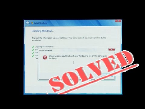 , title : 'Fix WINDOWS SETUP COULD NOT CONFIGURE Run Computers Hardware (Dell HP Toshiba Lenovo Acer ASUS MSI 7'