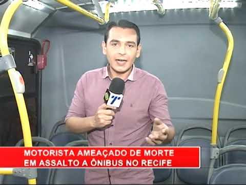[RONDA GERAL] Motorista é ameaçado de morte durante assalto a ônibus, no Recife