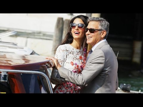 photos - A look at the Venice nuptials between the Hollywood actor and Amal Alamuddin.