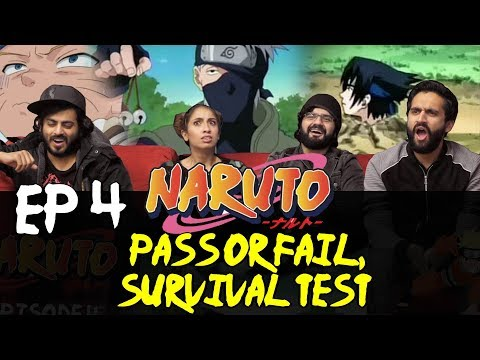 Naruto - Episode 4 - Pass or Fail, Survival Test - Group Reaction