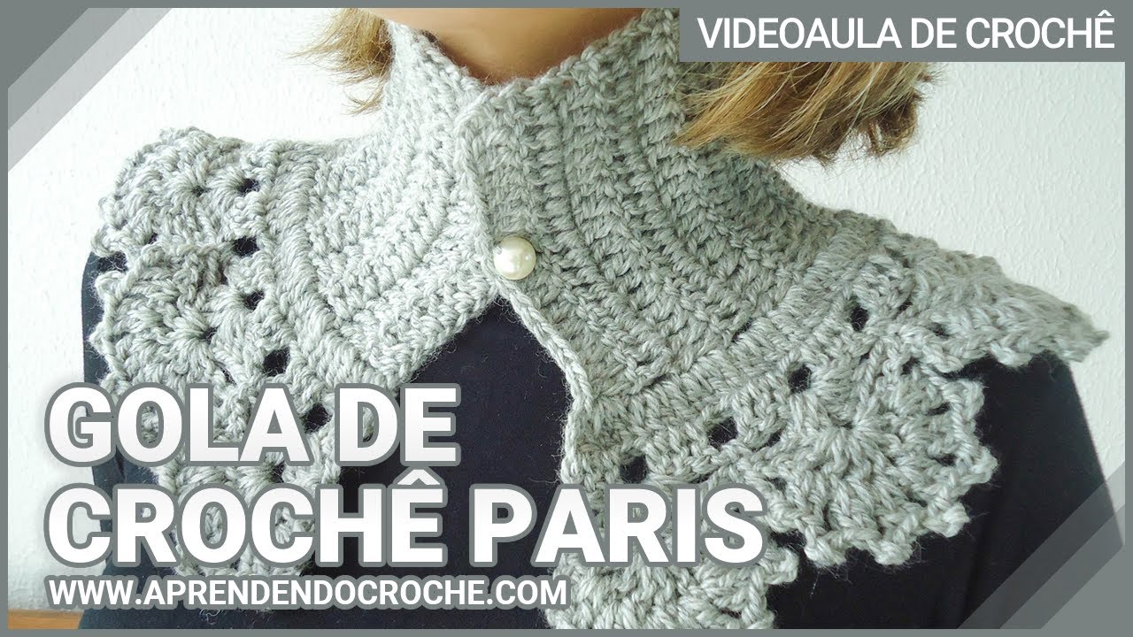 ac417847cf Gola de Crochê Paris