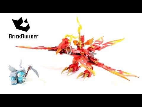 Vidéo LEGO Chima 70221 : L'ultime Phoenix de feu