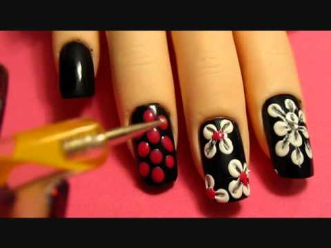 tutorial - nail art floreale