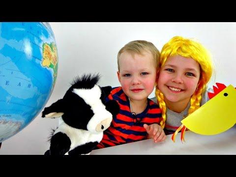 Игры для детей: Викторина. Настя, Вова и Умная коровка - Шпаргалка. Смешные видео (видео)