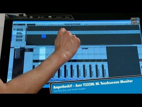 Angecheckt – Acer T232HL Touchscreen Monitor für Cubase & Co.