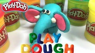 Play Doh - How to make Elephant With Play Dough