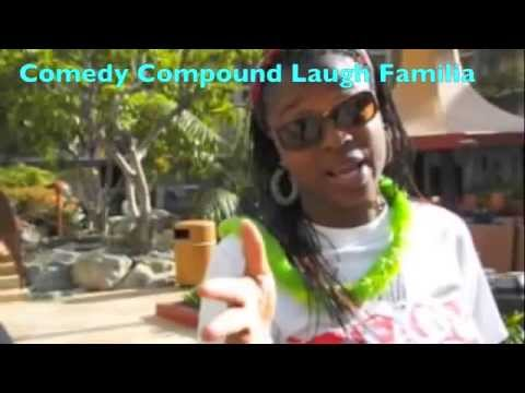 Comedians Judee Brown, Moka, and Brandi Ms-i-tell-jokes at the FICA Convention luau